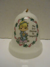 "Enesco Porcelain Bell ""May Your Christmas Be Delightful""1995"