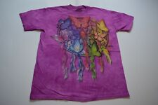 The Mountain T-Shirt Size L Purple Dyed Butterfly Dream Catcher Retro Mens