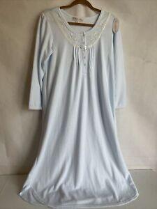 Miss Elaine cotton nightgown button front NWT Petite M Cuddleknit