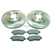 FRONT 2 BRAKE DISCS AND PADS SET FOR TOYOTA COROLLA 1.3 1.4 1.6 2.0D 1992-2000