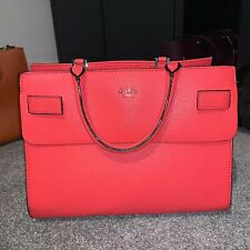 Red Guess Luxe Suave Leather Bag with Dust bag | eBay