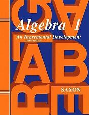 Saxon Algebra 1: Solutions Manual Third Edition 1998 [Paperback]