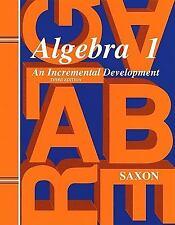 Saxon Homeschool Algebra 1: Solutions / Teachers Manual Third Edition 1998 NEW!
