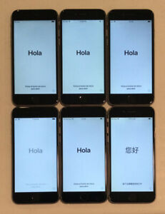 LOT OF SIX GOOD LCD, NON-DAMAGED IC LOCKED APPLE iPhone 6 PHONES FOR PARTS B15L