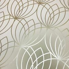 LOTUS GEOMETRIC WALLPAPER GOLD - MURIVA 148502 METALLIC