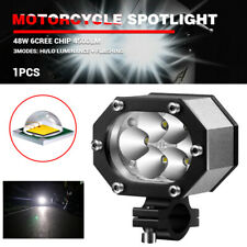 "2x 3.5"" inch Motorcycle LED Headlight CREE Spot Light 48W Hi/Low Beam  150- 200M"