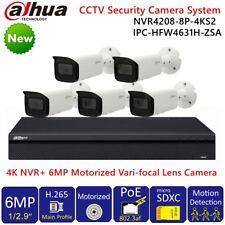 Dahua 4K 8CH 8POE CCTV Security System 6MP Motorized Zoom Bulit-in MIC Camera