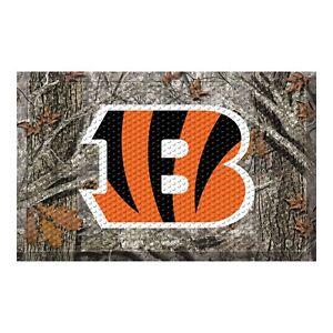 """Fanmats NFL Cicinnati Bengals Camo Pattern Scraper Mat 20"""" x 30"""" 2-4 Day Del."""