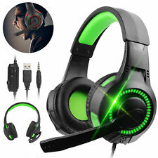 LED Gaming Headset Mic Stereo Surround Headphone 3.5mm Wired for Xbox one,PS4,PC
