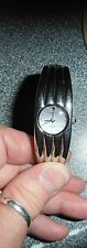 NEW* CHARLES DELON Gala; Grooved Silver-Tone w Round Face Bracelet Watch