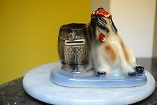 Vintage Booze Hound Ceramic Bank -- Rare Vintage Saint Bernard w/ Hangover