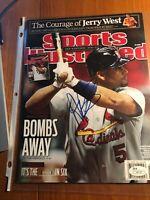 Albert Pujols Autographed Sports Illustrated Magazine JSA i41107