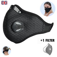 Anti Dust Reusable Protection for DIY, Sport, With 1-5 Filters, Washable, Black