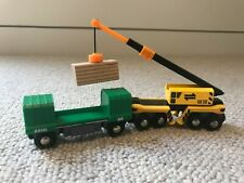 Brio Wooden Crane Train and Carriage Truck
