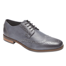 Rockport Mens Leather Style Purpose Wing Blucher Oxfords Size 9.5 W