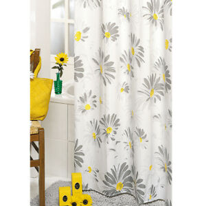 Shower Curtain Mold Daisies Vinyl Waterproof 3 Measures Anelli Items