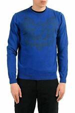 e8ec0d27db6 Versace Jeans Homme Bleu Ras Du Cou Pull Us M It