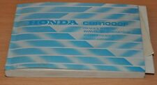 HONDA CBR1000F 4 Sprachig Bedienungsanleitung Fahrer Handbuch Betriebsanleitung
