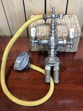 Antique faucet Bathtub Shower Fixture vtg mixing faucet brass, victorian deco
