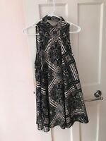 Free People Womens Casual Dress Printed Pintucked size Large