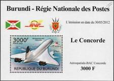 Aérospatiale BAC CONCORDE Airliner Aircraft Stamp Sheet #3 (2012 Burundi)