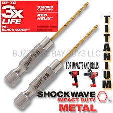 "2 Milwaukee 1/16"" SHOCKWAVE Titanium Drill Bit 48-89-4601 *EZ COMBINED SHIPPING*"