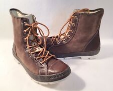 RARE Converse Chuck Taylor All Star Combat Boot Brown Suede & Leather 10.5 EUC