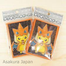 Pokemon Center Card Sleeve Mega Tokyo Pikachu Orange frame Ver. 2 Packs (64)