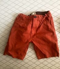 Boys MINI BODEN Orange Shorts Size 10 New With Out Tags