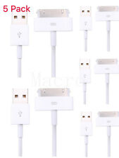 5x For iPhone 4 4S iPod Touch 4th Gen USB Sync Data Charging Charger Cable Cord