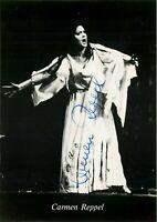 Opera - Autografo del soprano Carmen Reppel (Bergneustadt, 1941)