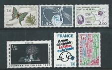France - 1980 Commemorative Issues - Six different - Un- mounted mint