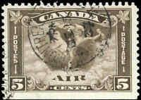 1930 Used Canada 5c F+ Scott #C2 Air Mail Stamp