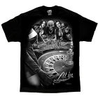 All In Casino Roulette Wheel Las Vegas Gambler David Gonzales DGA Art T Shirt