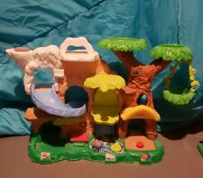 Fisher Price Little People Zoo Jungle Playset Treehouse Swing Animals Slide