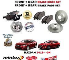 FOR MAZDA 6 2.0 2.2DT GJ 9/2012 > FRONT + REAR BRAKE DISCS SET + DISC PADS KIT