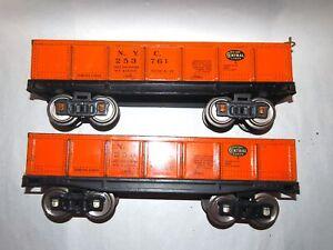 Dorfan Prewar Standard Gauge Pair Of Gondolas! NICE! PA