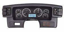 1987-89 Ford Mustang Dakota Digital Black Alloy & White VHX Analog Gauge Kit