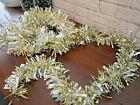 Vtg Christmas Tree Metallic Silver Gold Garland Tinsel Holiday Full Fluffy 8'