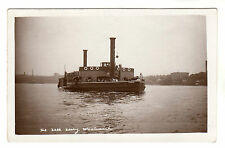 The Free Ferry - Woolwich Real Photo Postcard c1910 / Gordon