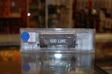 N Bluford Shops 17071 * 3 Bay Hopper w/RS Woodchip Extensions, Soo Line 68589