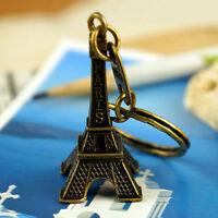 Paris Retro Eiffel Tower Model Cute Keychain Keyfob Eiffel Tower Figurines HF