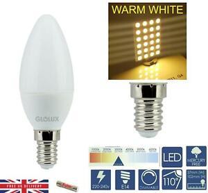 C37 E14 LED Candle Bulb Lamps 3k Soft White 6W Energy A+ Packs 1-24