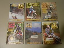 LOT OF 6  1996 TRAIL RIDER MAGAZINES,MOTORCYCLE RACING,KTM,GASGAS,ISDE,BAJA,AMMO