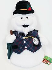 """Sam The Snowman Stuffins 12"""" Plush With Umbrella 1999 new with tag ."""