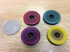 John Lewis buttons x5 2 tone colour 23mm SHABBY CHIC vintage aged look 7 colours