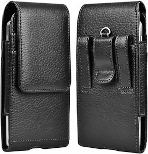 Cell Phone Holster for iphone Samsung Leather Wallet Case w/Belt Clip Loop Pouch