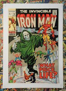 IRON MAN #19 - NOV 1969 - CAPT AMERICA APPEARANCE - VFN- (7.5) PENCE COPY!