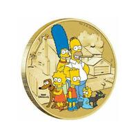 Australia 2019 The Simpsons $1 Dollar Coloured UNC Coin Carded
