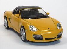 Modellauto Porsche Boxster S Cabrio gelb / geschlossen ca. 11,5 cm Neuware WELLY